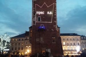 Wyświetlanie logotypu na krakowskim ratuszu